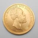 Zlatá mince Švédsko 20 Koruna 1889 EB