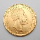 Zlatá mince Švédsko 20 Koruna 1898 EB