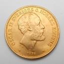 Zlatá mince Švédsko 20 Koruna 1876 EB
