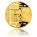 2015 - Zlatá medaile Jan Perner - číslováno - Au 1/2 Oz