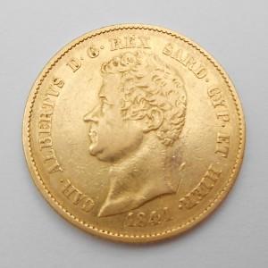 Zlatá mince Itálie (Sardinie) 20 Lira 1841 P