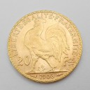 Zlatá mince Francie 20 Frank 1906