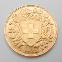 Zlatá mince Švýcarsko 20 Frank 1935 L-B
