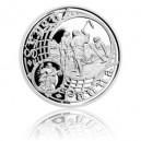 2015 - Postříbřená medaile Staroměstský orloj - Panna