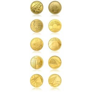 2011-2015 - Sada deseti zlatých mincí Mosty ČR,  Standard