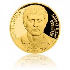2016 - Zlatá mince 10 NZD Antonín Panenka - Au 1/4 Oz