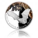 2016 - Stříbrná mince 1 NZD Netopýr velký - kolorováno