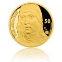 2016 - Zlatá medaile s motivem 50 Kč bankovky - Svatá Anežka Česká