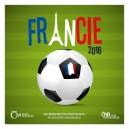 Sada oběžných mincí České republiky 2016 - ME ve fotbale Francie