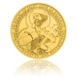 2016 - Zlatá investiční mince 250 NZD 40dukát sv. Jana Nepomuckého