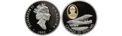 Stříbrné mince Kanada
