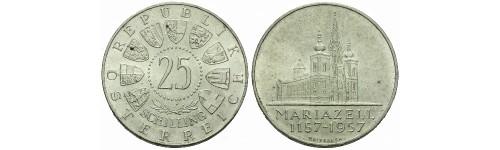 Stříbrné mince Rakousko