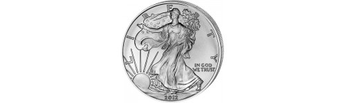 Investiční stříbrné mince, slitky